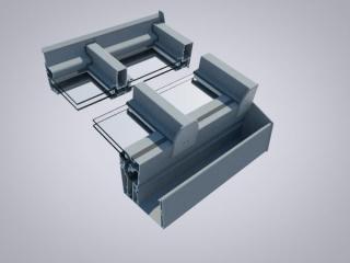 Unisoliertes Dachsystem (geeignet als Windfang/Regenschutz)